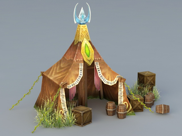 Elven Tent 3d Model 3ds Max Files Free Download Modeling