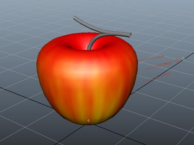Red Apple 3d Model Maya Files Free Download Modeling 41284 On CadNav
