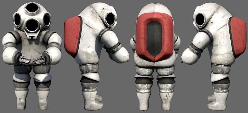 Retro Spaceman 3d Model Object Files Free Download Modeling 42623 On CadNav