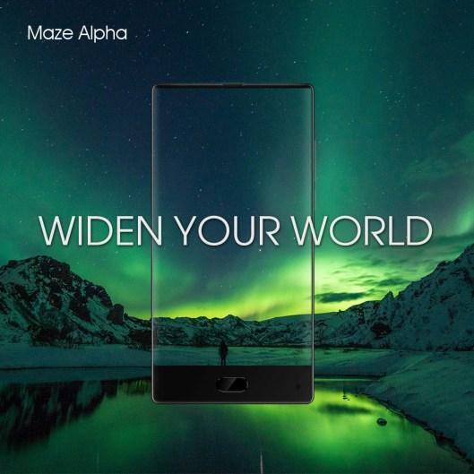 MAZE Alpha sexy e impressionante smartphone bezel less a um preço nunca visto 1