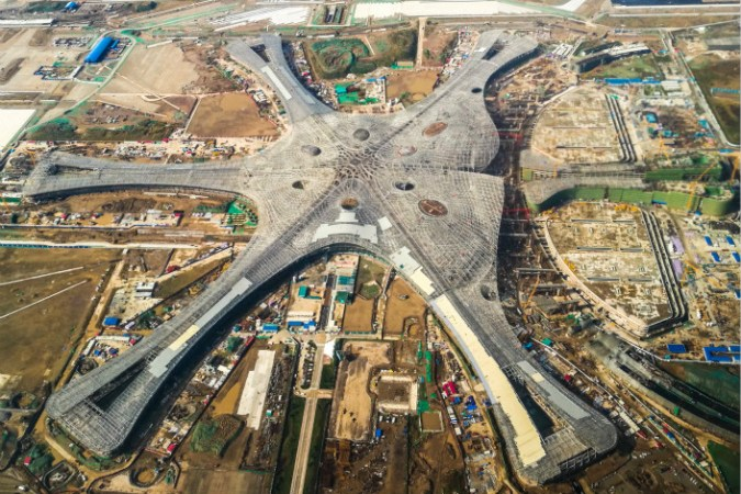 Turf War Takes Off at Beijing s New Airport   Caixin Global One civil aviation official has argued that Beijing s new airport   pictured  will not help