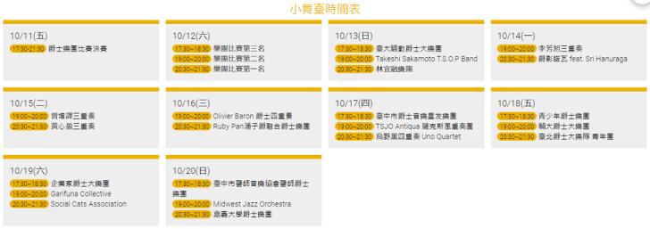 20191003092207 51 - 2019臺中爵士音樂節即將登場!美食攤位、停車資訊、節目表看這裡!