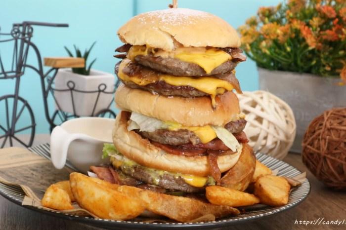 日初饌輕食工坊│台中人氣早午餐,爆炸大魔王漢堡20公分高,還有超大份量早午餐讓你飽到不要不要的!