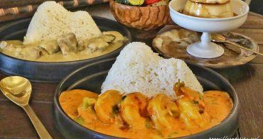 山色 Shānsè│隱身在住宅區的特色泰式咖哩飯,價格不便宜,小山丘造型超吸睛!