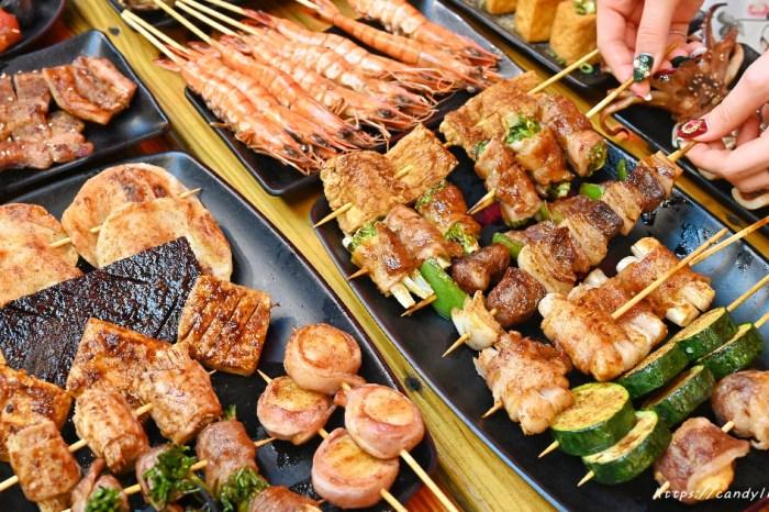 夜燒碳烤│台中深夜美食,平價串燒,現點現烤,還有大份量蓋飯,營業至凌晨1點半~