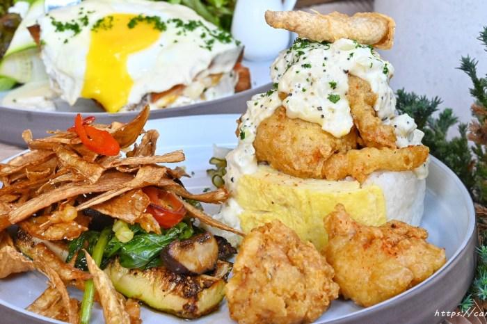 三顆蛋│台中厚蛋燒專賣店,將玉子燒結合飯糰的創意早午餐,還有超好吃的法式吐司~