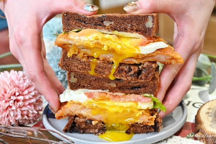 Punz Harry 胖子哈利 台中早午餐推薦!口味創意十足,激推爆漿布朗尼辣雞三明治,可可生吐司入料,甜鹹滋味讓人一吃就愛上!