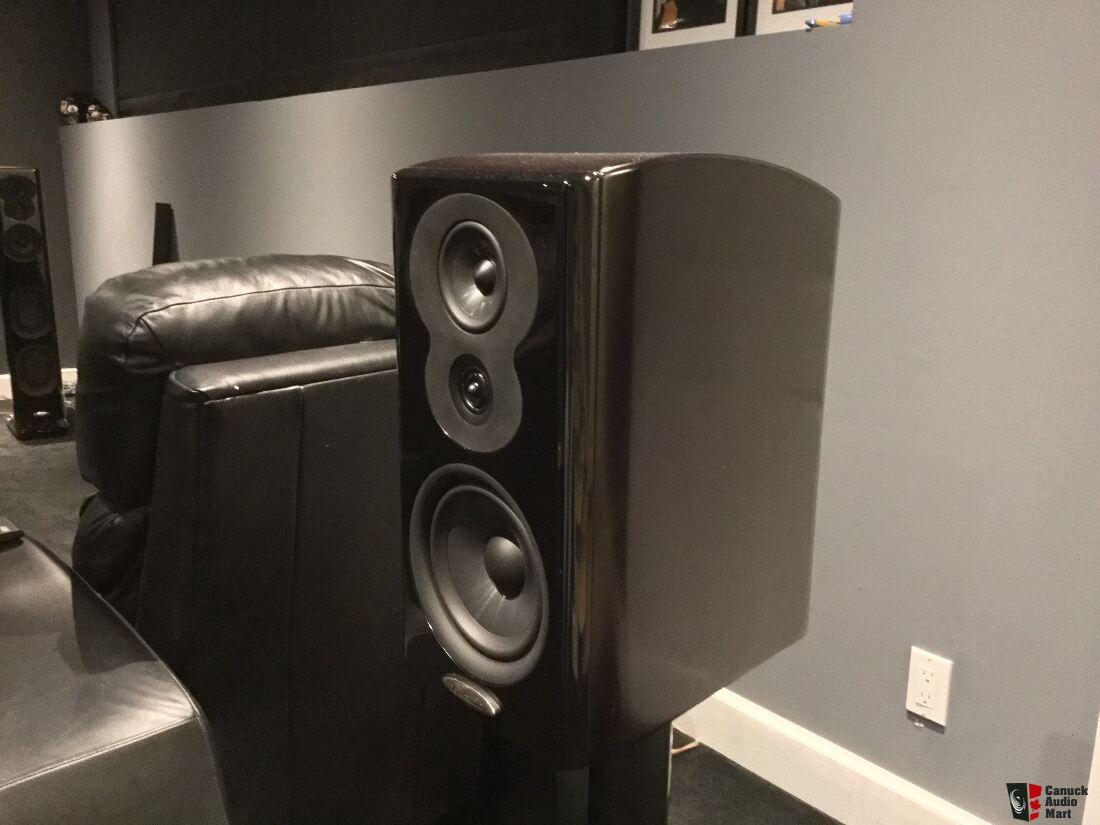 reduced! polk lsim 703 3 way bookshelf speakers! photo #1153251