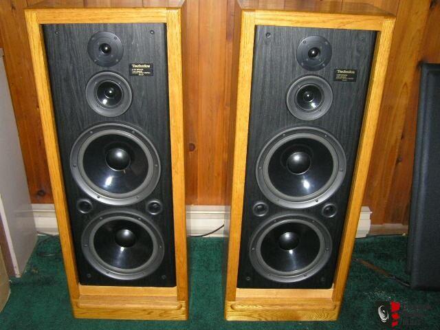 Technics SB A52 Floorstanders Wcustom Oak Cabinets Photo