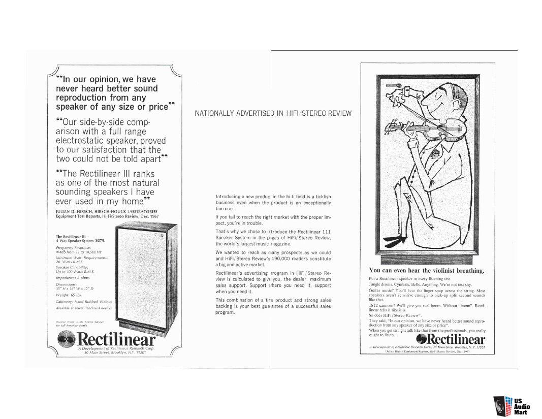 Rectilinear Iii Highboy Speakers Vintage Hifi Stereo