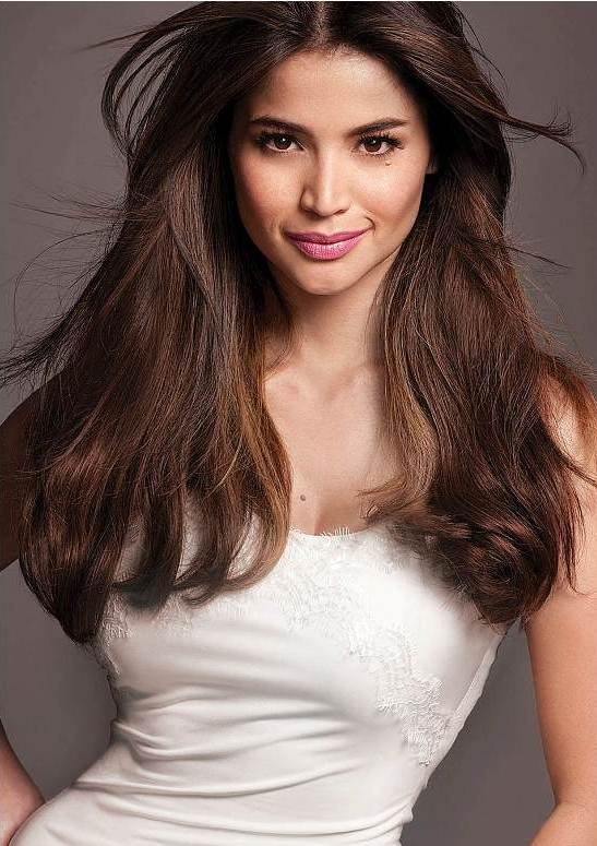 Anne Curtis Voluminous Middle Part Hairstyle Party