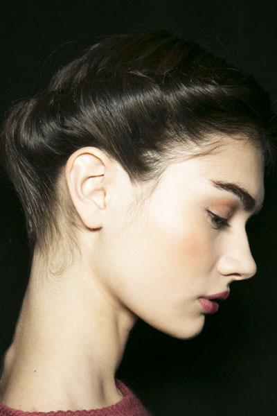 Antonina Vasylchenkos Rolled Updo Hairstyle Prom