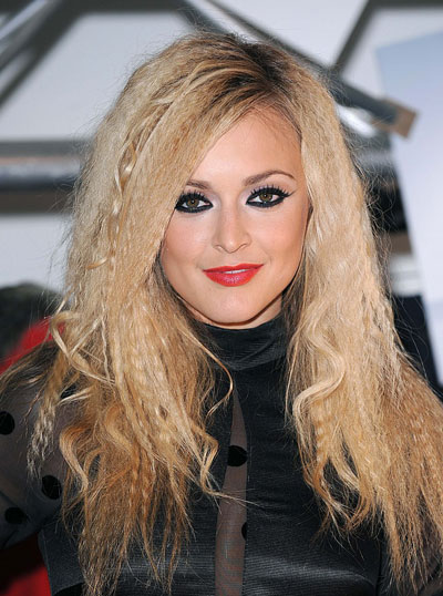Fearne Cottons Crimped And Curly Long Hairstyle Party