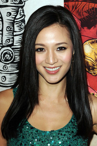 Grace Huangs Long Straight Hairstyle With Side Part
