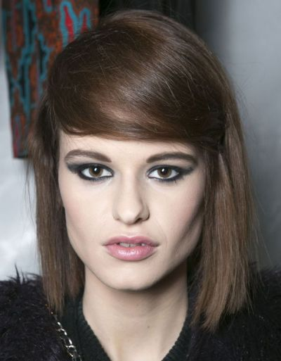 Blunt Bob With Faux Side Bangs Casual Fall Winter