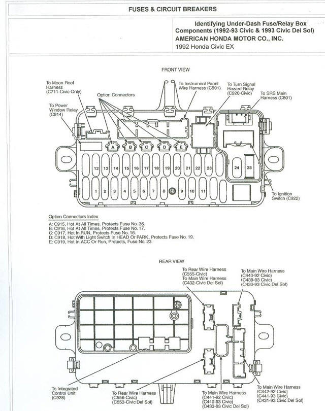 93 honda civic interior fuse box schematic diagrams rh ogmconsulting co 1993 honda accord interior fuse box diagram 93 honda accord fuse box diagram