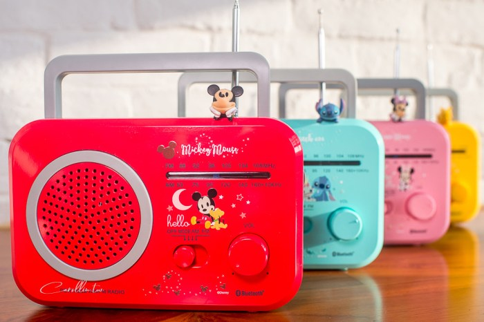 DeltaPro 復古藍芽喇叭開箱 | Disney 迪士尼正版授權系列 – 4款可愛造型 身兼廣播收音機