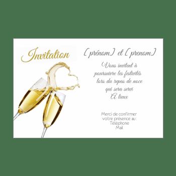 carte d invitation au repas de mariage