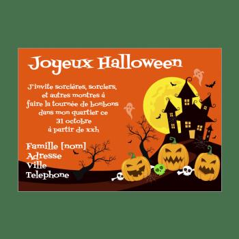 cartes d invitation pour halloween a