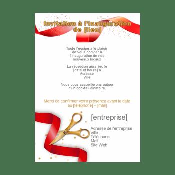 invitation pour une inauguration a