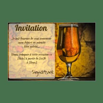invitation pour une fete de depart en