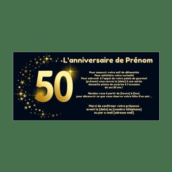 invitation d anniversaire 50 ans