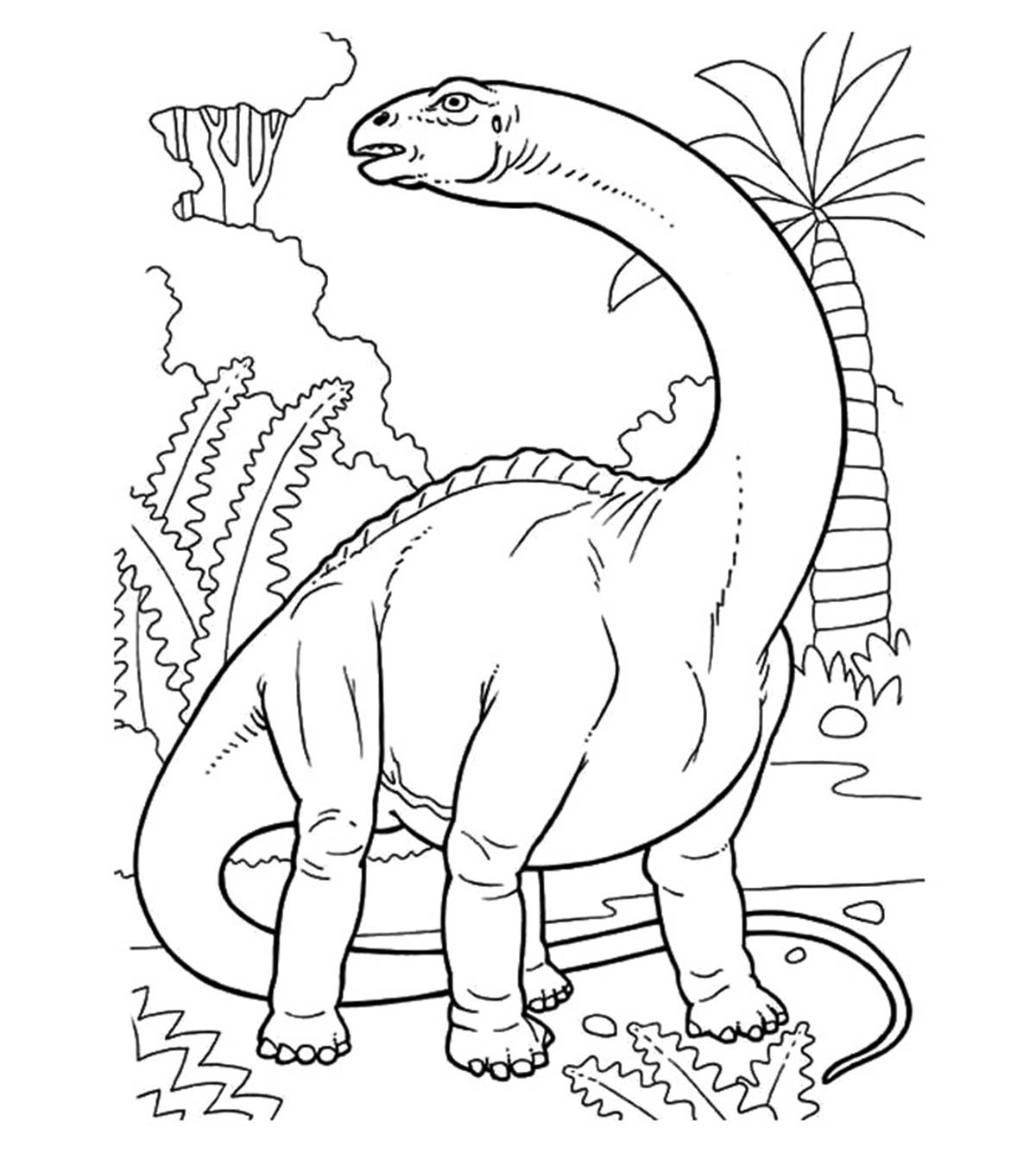 Huge Dinosaur Colouring Image