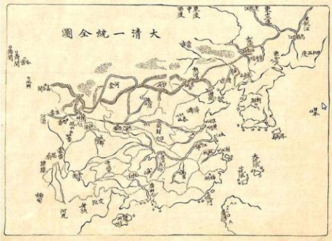 chinese maps, east sea, qing, Ming, emperor kangxi