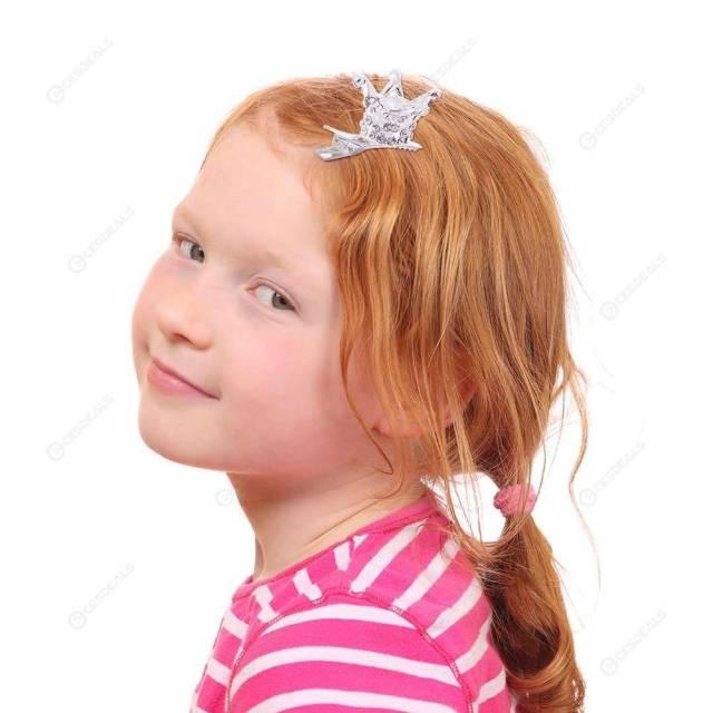 kids girls baby rhinestones crown hairpins barrettes princess hair clips (d