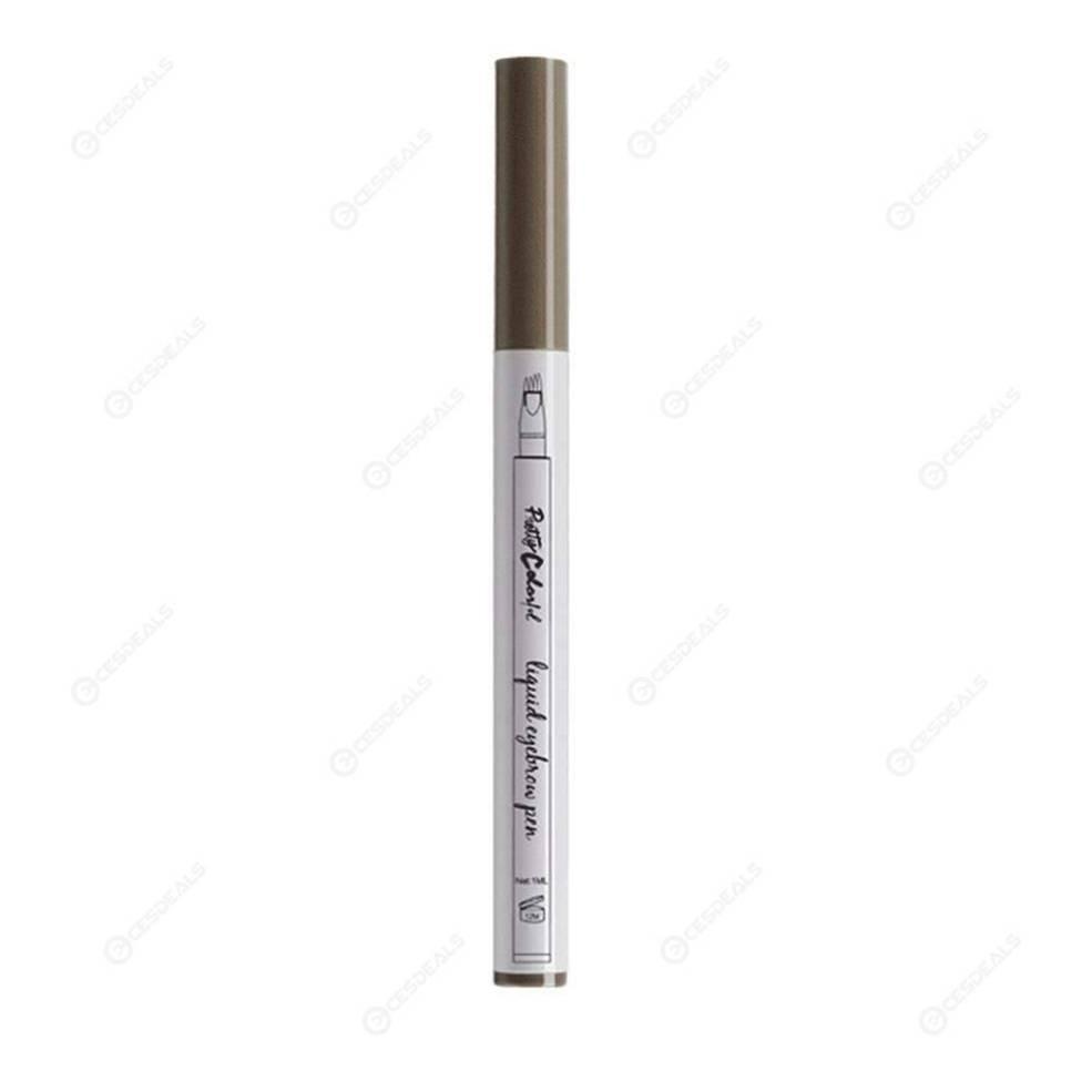 Eyebrow Pencil Fork Tip Tattoo Pen 4 Head Fine Sketch Liquid 3 Light Brown