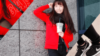 Sporty Girl with Fluffy Red Coat| 運動女孩與她的毛茸茸紅外套