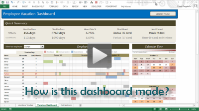Detialed tutorial on Employee Vacation Dashboard - Now available in Excel School