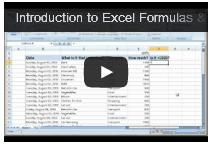 Writing simple formulas in Excel
