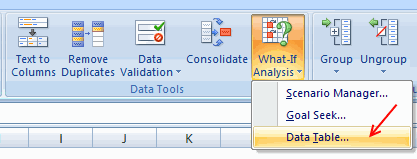 Data Tables - Excel 2007 [Data Tables & Monte Carlo Simulations in Excel]