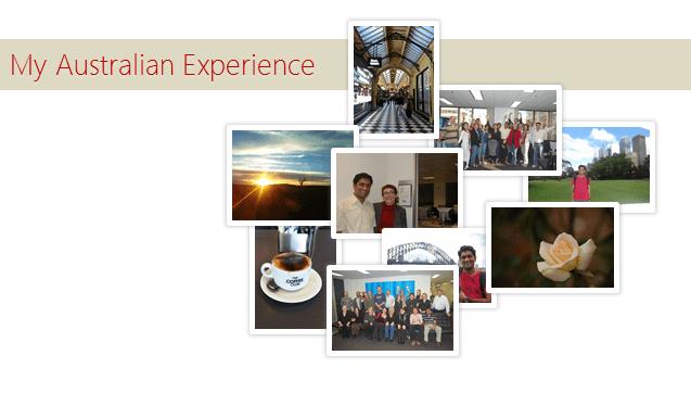 My Australian Experience - Personal