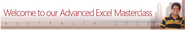 Preparatory Course Material - Excel Dashboards Masterclass - Australia 2012