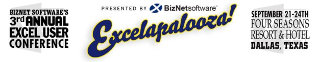 Excelapalooza - Annual Excel User Conference - Chandoo will be speaking on making awesome dashboards