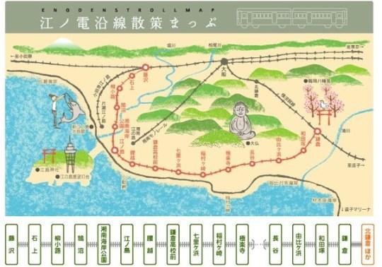 鐮倉江之電地圖