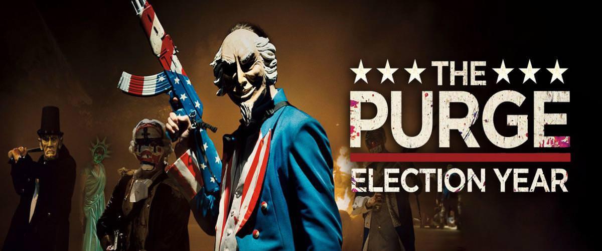 Movie, The Purge: Election Year(美.法) / 國定殺戮日:大選之年(台) / 國定殺戮日:大選狂屠(港) / 人类清除计划3(網), 電影海報, 美國, 橫版