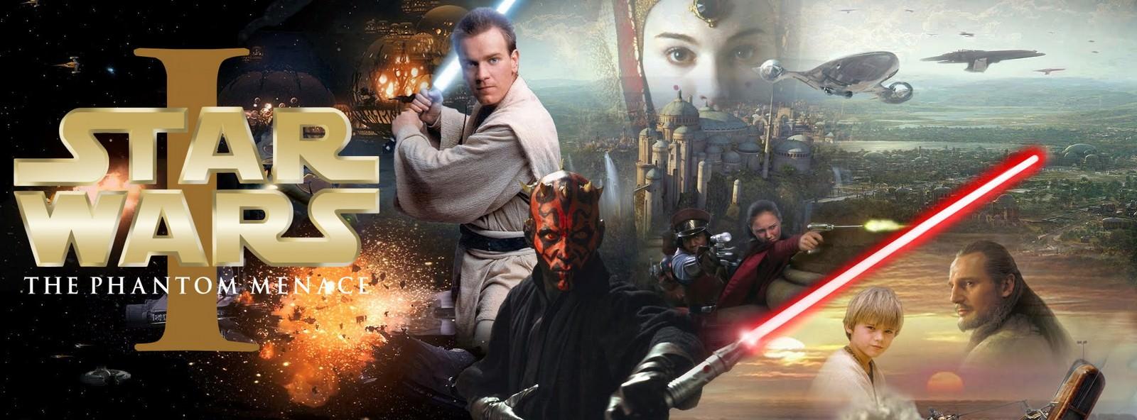 Movie, Star Wars: Episode I - The Phantom Menace(美國, 1999) / 星際大戰首部曲:威脅潛伏(台灣) / 星球大战前传:幽灵的威胁(中國) / 星球大戰前傳:魅影危機(香港), 電影海報, 美國, 橫版