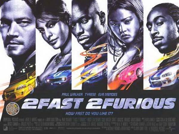 Movie, 2 Fast 2 Furious(美國, 2003年) / 玩命關頭2:飆風再起(台灣) / 狂野極速(香港) / 速度与激情2(網路), 電影海報, 美國, 橫版