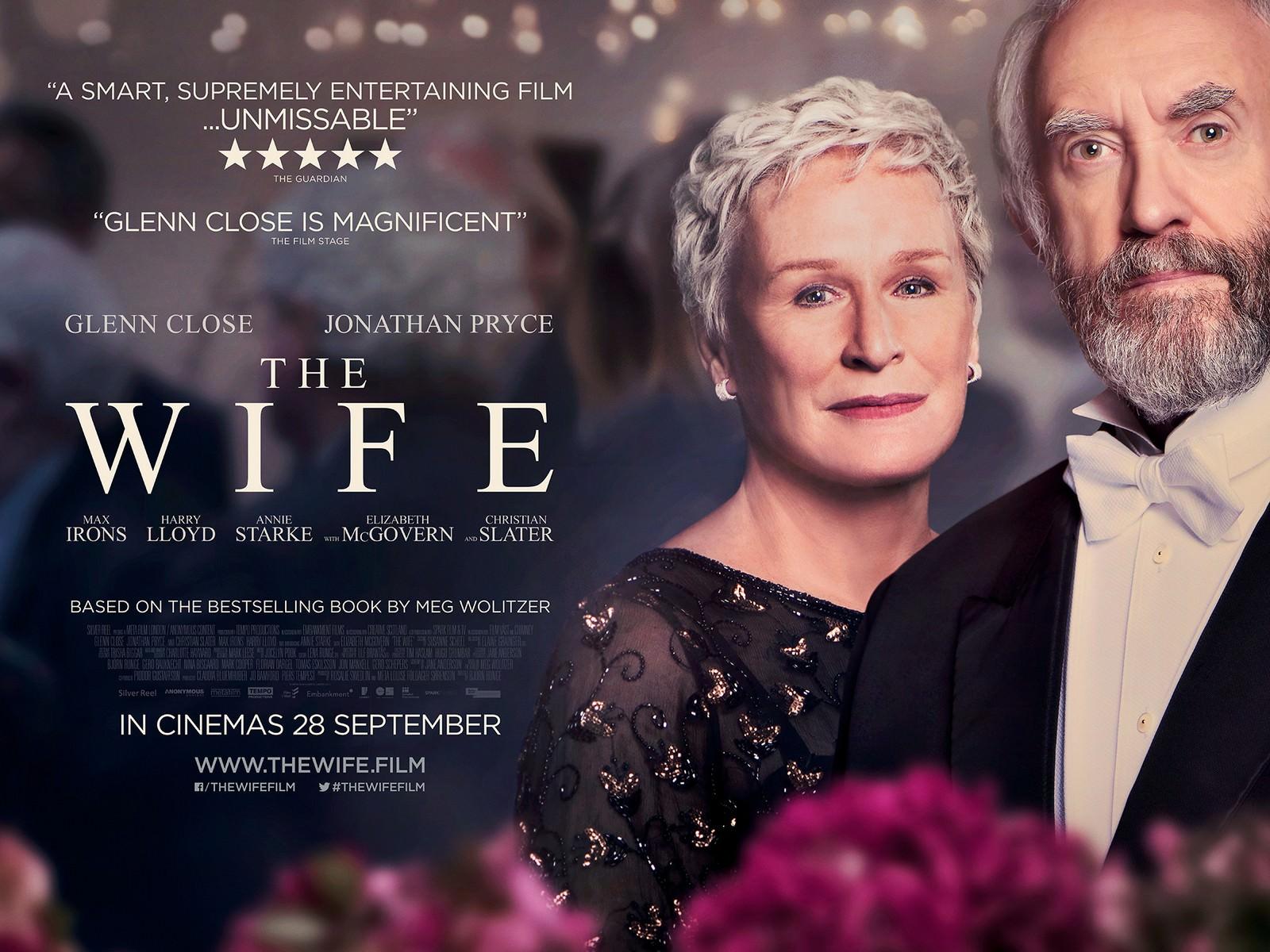 Movie, The Wife(英國, 2017年) / 愛.欺(台灣) / 贤妻(網路), 電影海報, 英國, 橫版