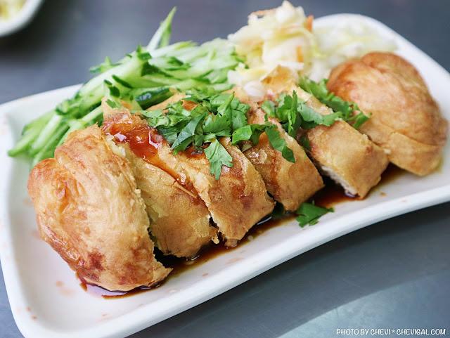 一品香春捲臭豆腐,你有吃過特別的春捲臭豆腐嗎?外酥內軟還有豐富內餡加辣超過癮!