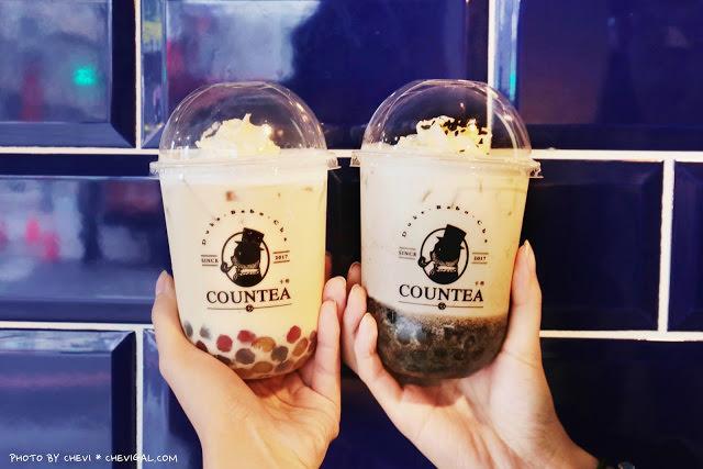 卡帝 COUNTEA*英倫風格飲料店新開幕!花瓣彩色珍珠散發淡淡花香超好拍!