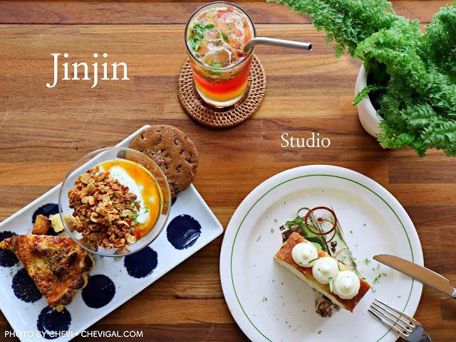 台中西區│Jinjin studio 私宅甜點*隱身中美街的清新甜點店。另有鹹派與咖啡。闆娘還是氣質正妹!