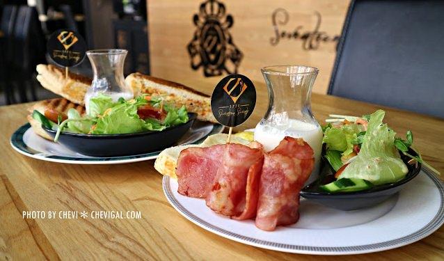 台中西屯│1770 Cafe*棉花糖噗啾蛋好綿密。熱壓古巴麵包餡料滿滿。悠閒用餐好去處