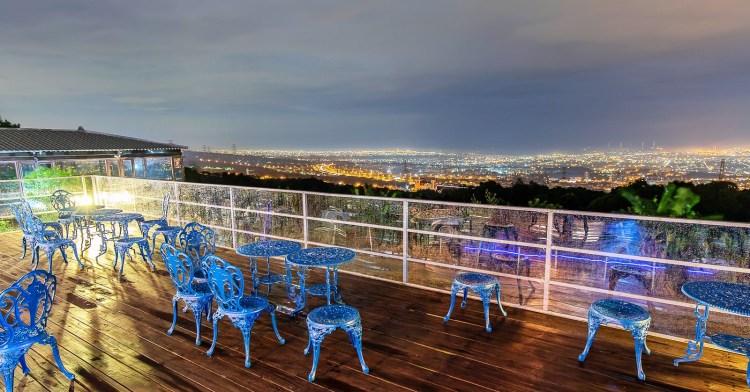 滔月景觀咖啡廳,台中隱密夜景咖啡廳,迷路之後意外發現中彰地區的絕美夜景!