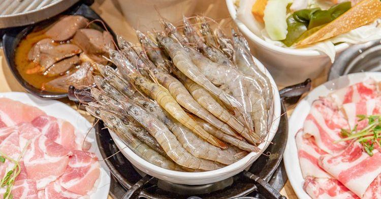 大樂鍋精緻鍋物,菜單上找不到的隱藏版超蝦雙人餐有夠蝦!還有白飯飲料冰沙無限量吃到飽~