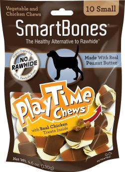 SMARTBONES Small PlayTime Peanut Butter Chews Dog Treats, 10 pack - Chewy .com