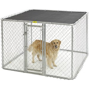 MidWest K9 Steel Chain Link Portable Outdoor Dog Kennel, 6-ft wide